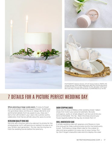 Page 17 of 7 Details for a Picture Perfect Wedding Day