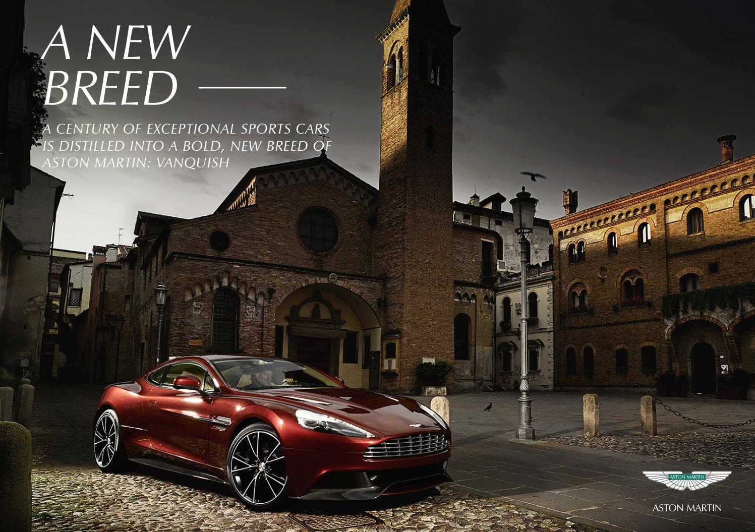 Aston Martin Vanquish Brochure By Natalie Anthes Issuu