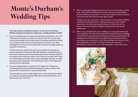 Page 15 of Monte Durham's Wedding Tips