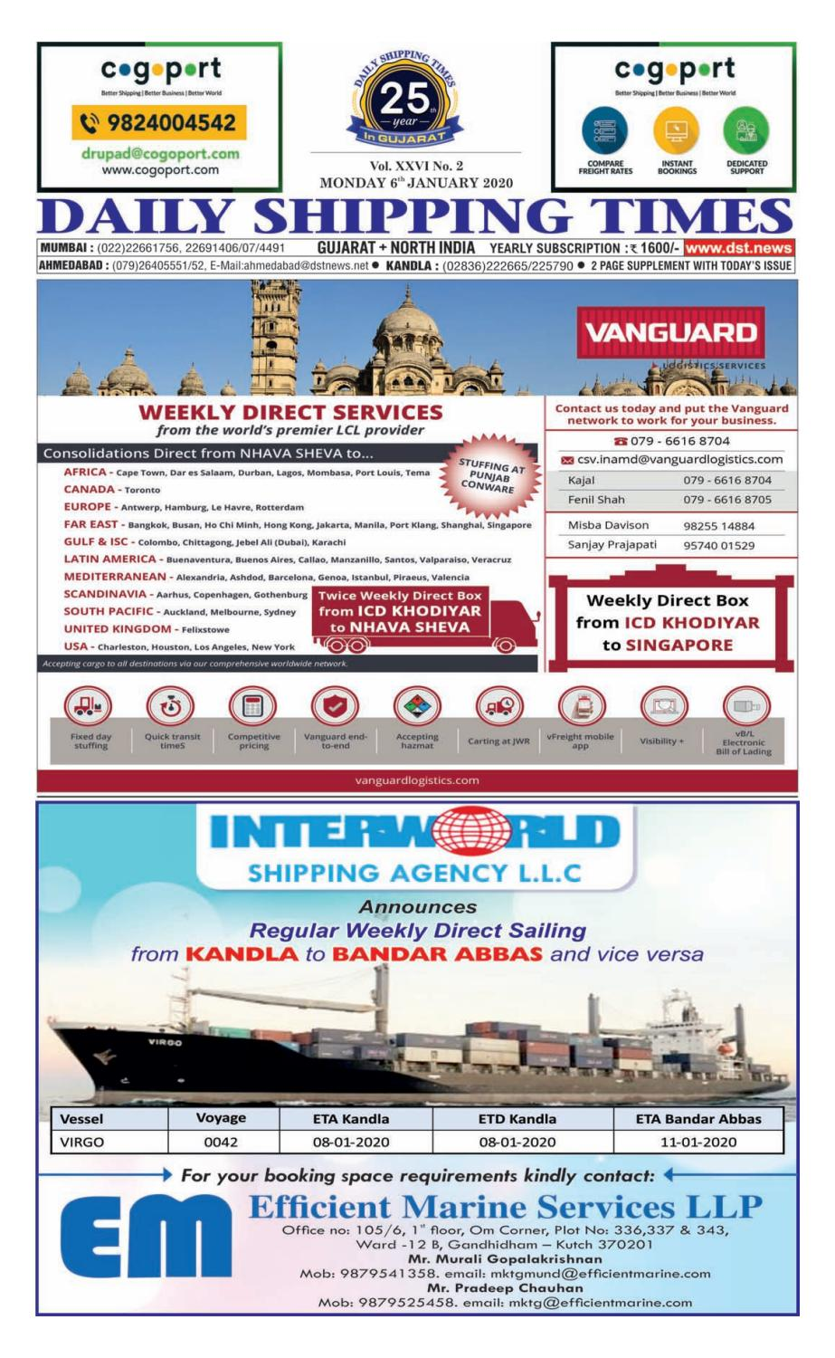 Guj Edition 06 01 2020 By Daily Shipping Times Issuu