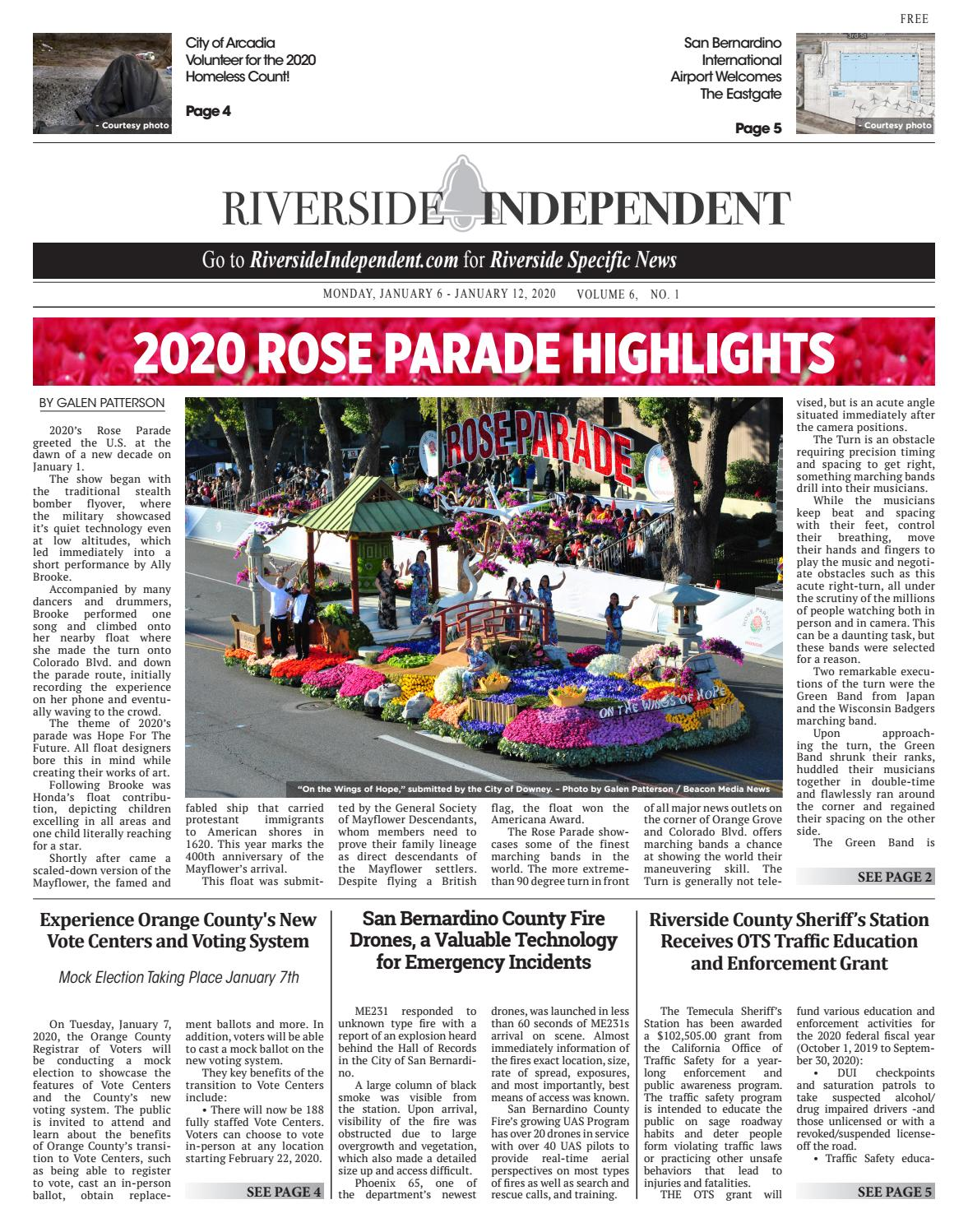 Checkpoints In Downey Area Christmas 2020 Riverside Independent   1/6/2020 by Beacon Media News   issuu