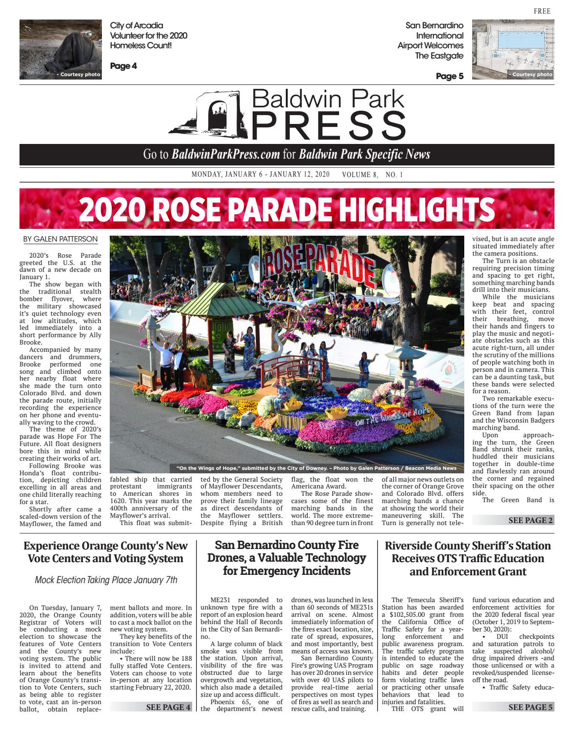 Checkpoints In Downey Area Christmas 2020 Baldwin Park Press   1/6/2020 by Beacon Media News   issuu