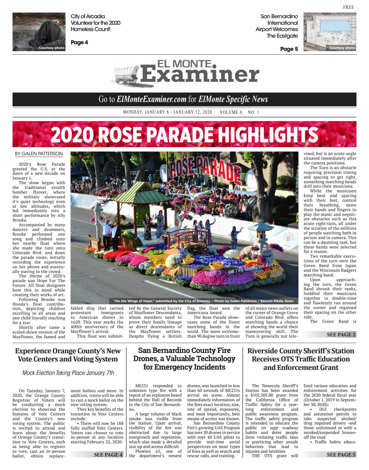 Checkpoints In Downey Area Christmas 2020 El Monte Examiner   1/6/2020 by Beacon Media News   issuu