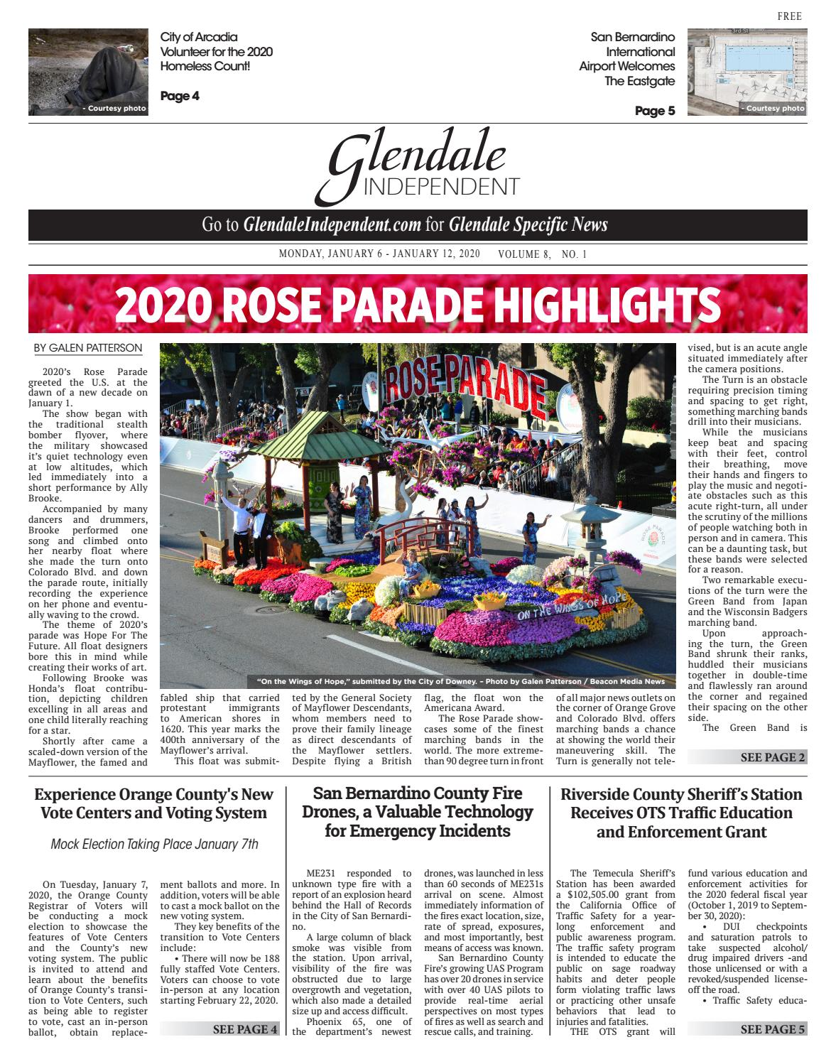 Checkpoints In Downey Area Christmas 2020 Glendale Independent   1/6/2020 by Beacon Media News   issuu