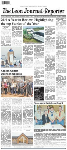 The Leon Journal Reporter January 8 2020 By Tonya Kunze Lindsey
