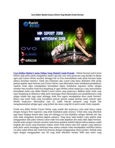 Cara Daftar Sbobet Casino Online Yang Mudah Untuk Pemula By Rupiah Sbo Issuu