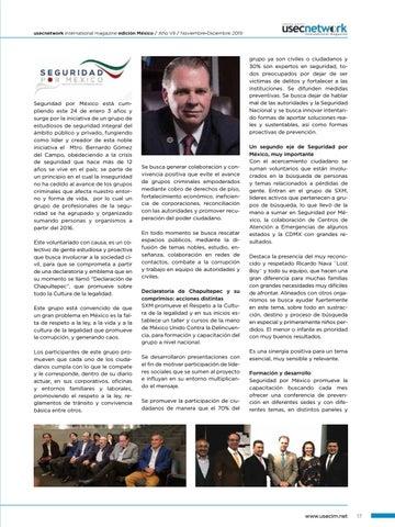 Page 19 of USEC No. 38: Seguridad por México