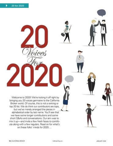 Page 14 of California Broker Magazine January 2020