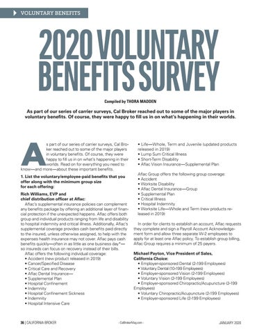 Page 36 of 2020 VOLUNTARY BENEFITS SURVEY