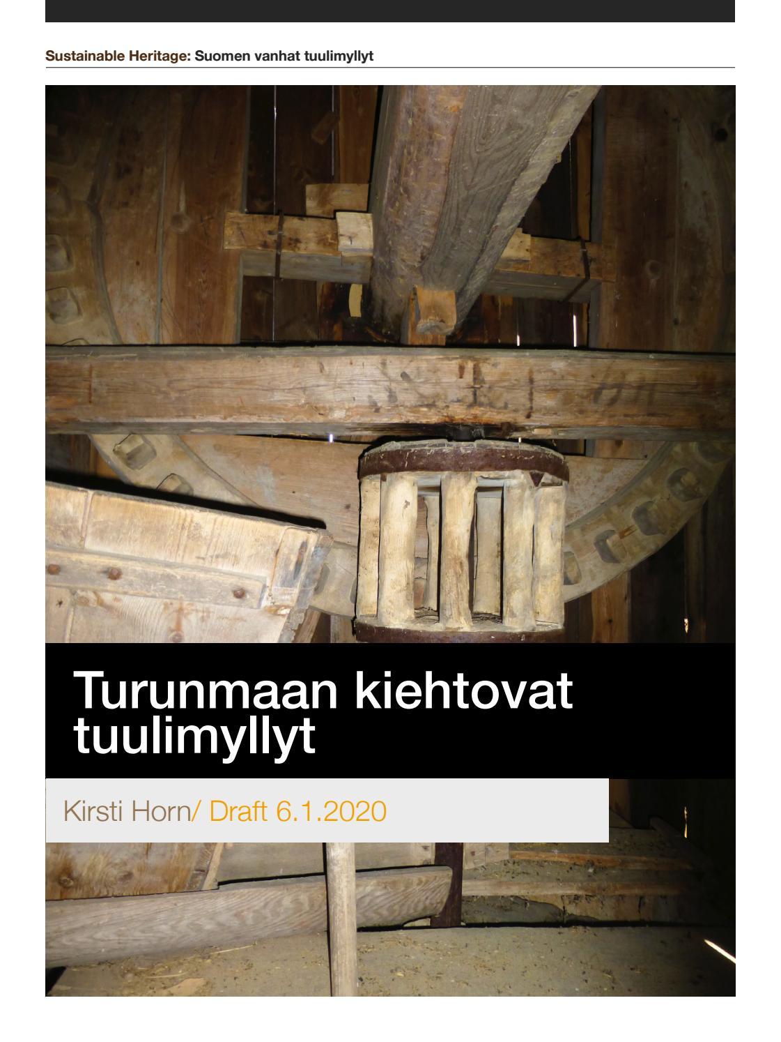 Turunmaan Kiehtovat Tuulimyllyt Kirsti Horn 2019 By ˈpʌblɪʃɪŋ