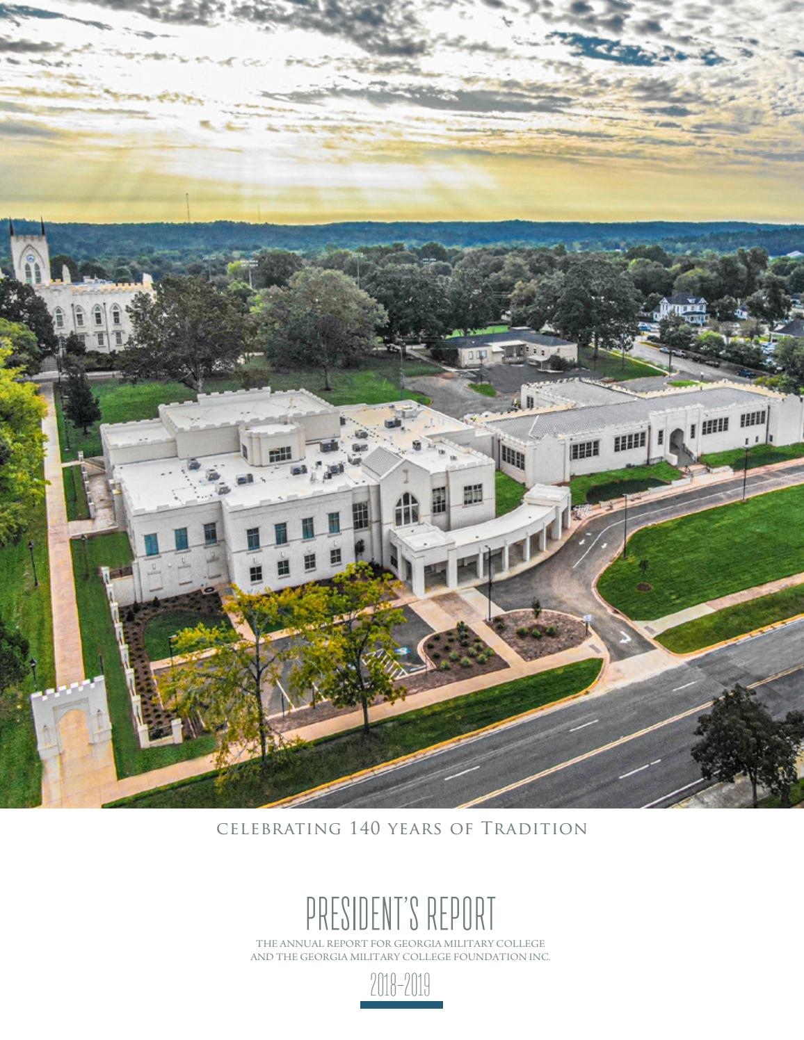 2018 2019 President S Report By Georgia Military College Cadence Issuu