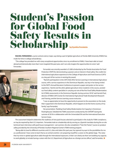 Page 26 of Florida A&M University College of Agriculture and Food Sciences 2019 Magazine
