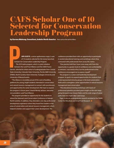 Page 28 of Florida A&M University College of Agriculture and Food Sciences 2019 Magazine