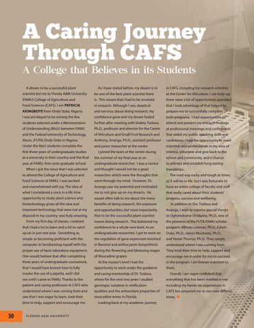 Page 30 of A Caring Journey Through CAFS A College that Believes in its Students