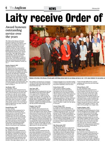Page 6 of Laity receive Order of the Diocese of Toronto