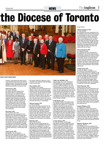 Page 7 of Laity receive Order of the Diocese of Toronto