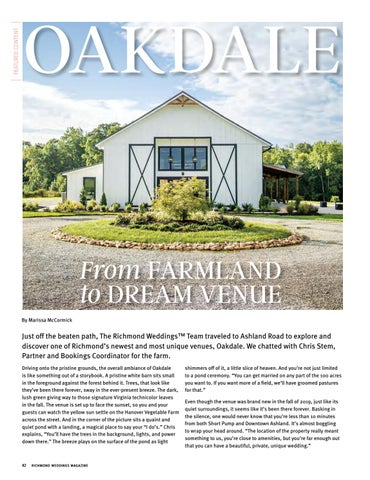 Page 44 of OAKDALE: From Farmland to Dream Venue