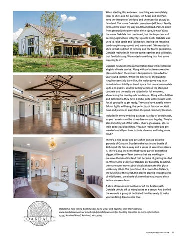 Page 45 of OAKDALE: From Farmland to Dream Venue