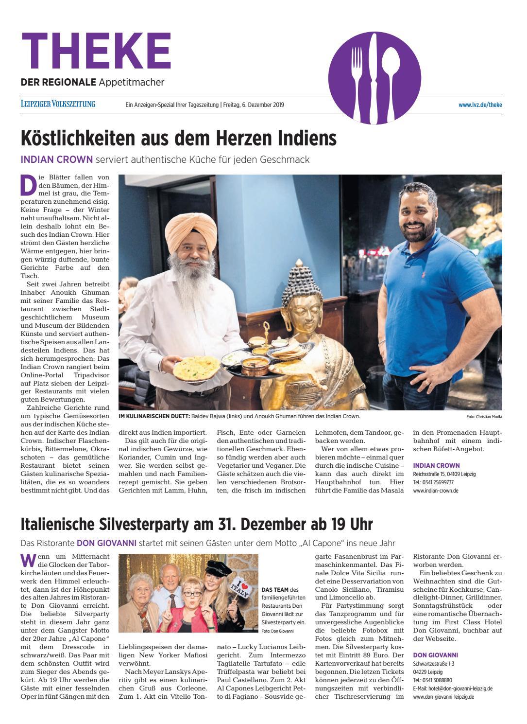 Theke Dezember 2019 Der Regionale Appetitmacher By Leipzig Media Gmbh Ein Unternehmen Der Leipziger Volkszeitung Issuu
