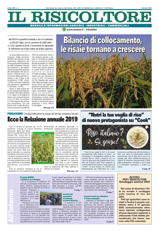 Cosa Seminare A Gennaio il risicoltore (gennaio 2020) by ente nazionale risi - issuu