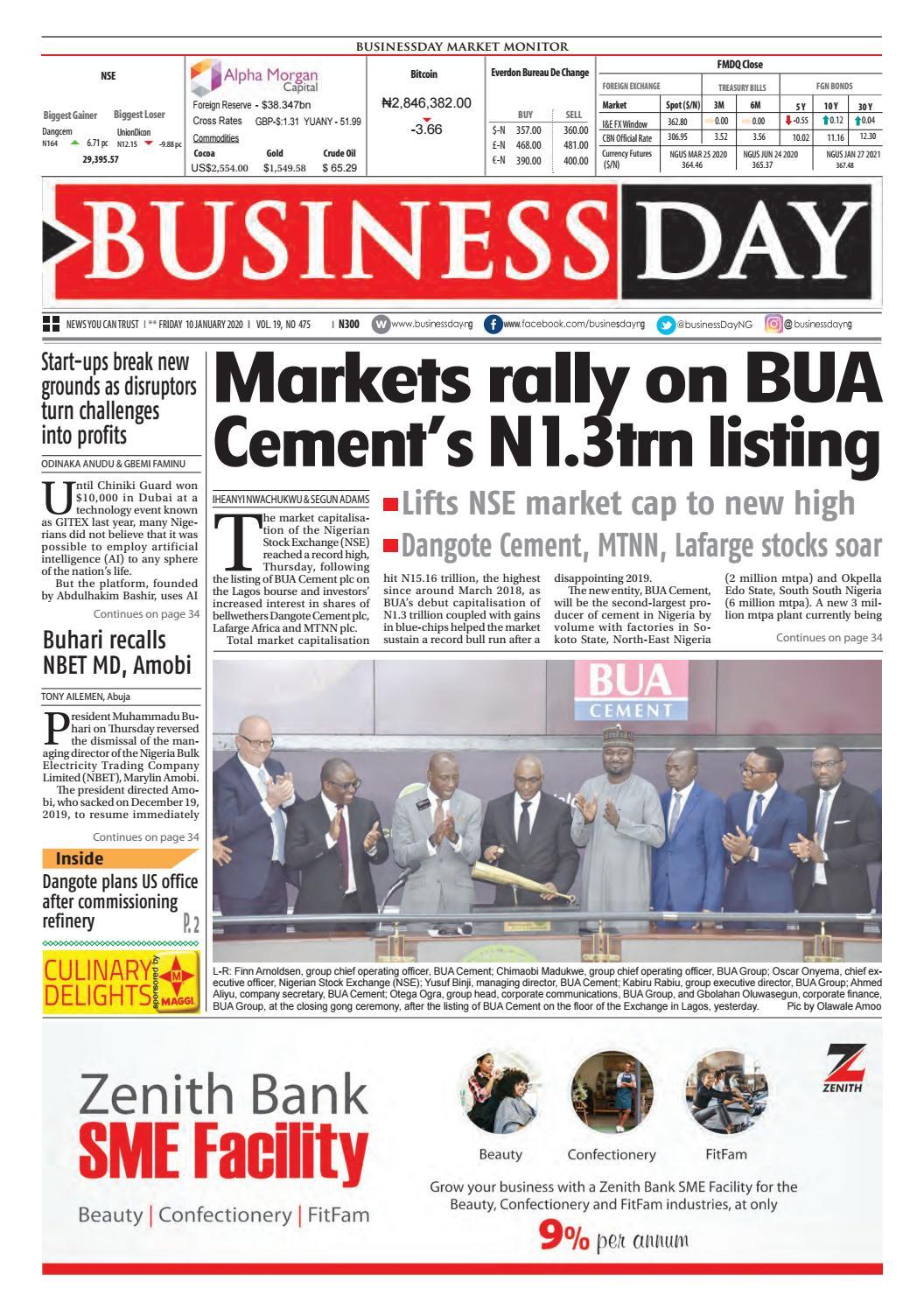 BusinessDay 10 Jan 2020 by BusinessDay issuu