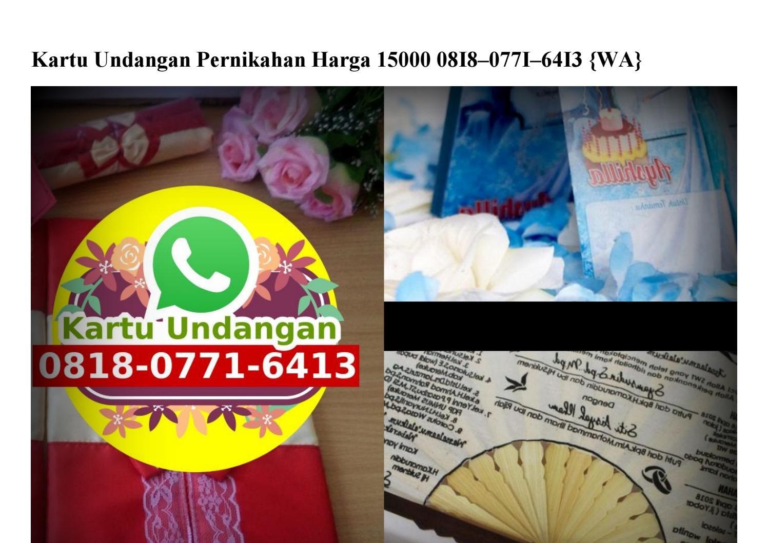 Kartu Undangan Pernikahan Harga 15000 0818 0771 6413 Wa By Toko4vendormurah Issuu