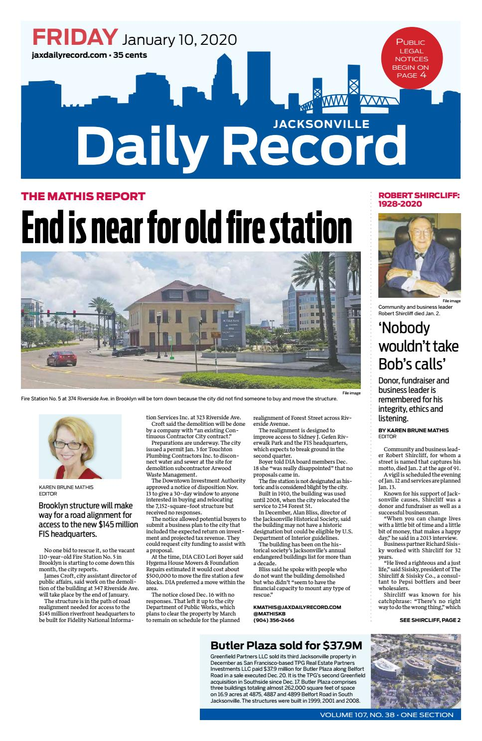 Jacksonville Daily Record 20/20/20 by Daily Record & Observer LLC ...