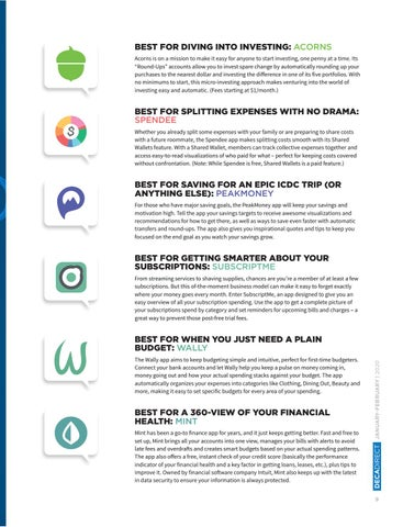 Page 11 of The Best Apps for Your 2020 #FinanceGoals