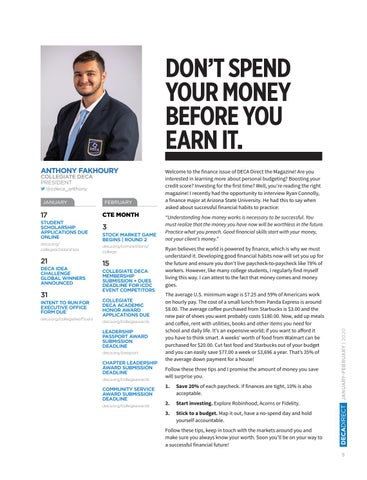 Page 7 of Don't Spend Your Money Before Your Earn It.