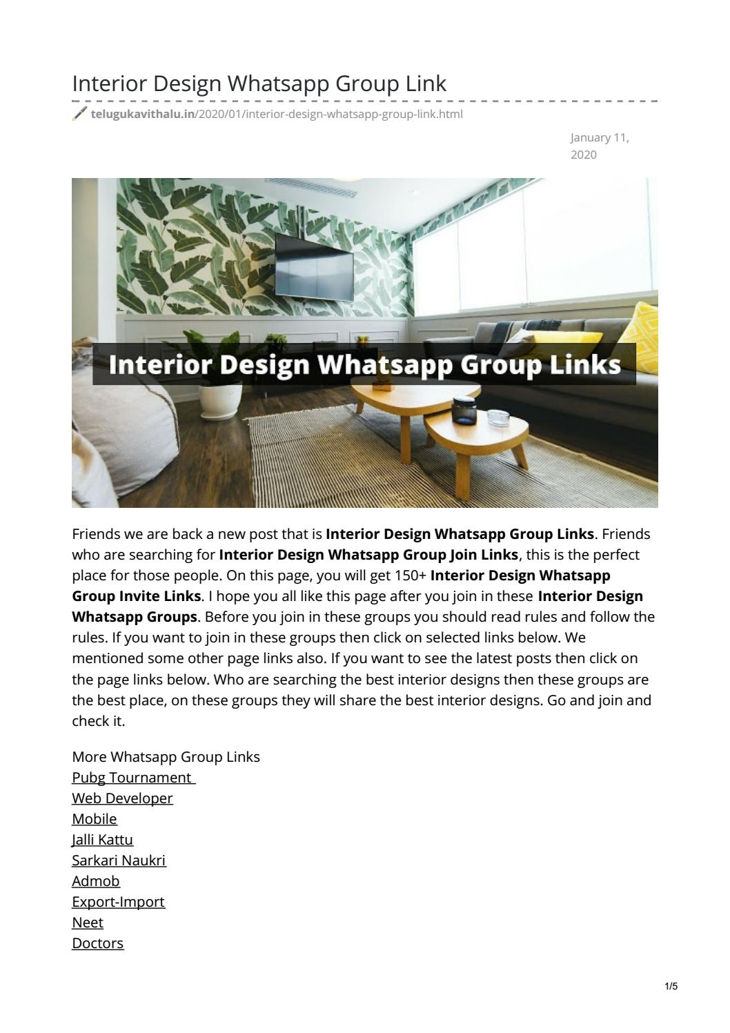 Interior Design Whatsapp Group Link By Telugukavithalu Issuu
