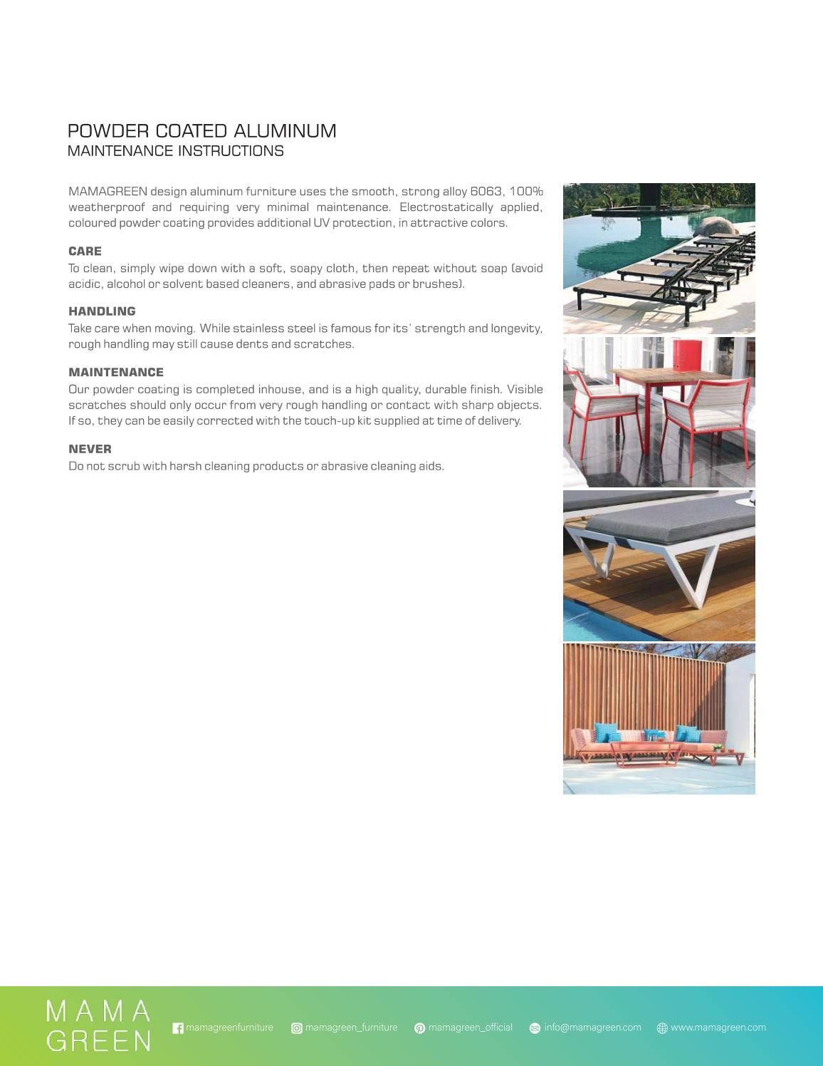 Mamagreen Powder Coated Aluminum Care And Maintenance 2020 By Mamagreen Issuu