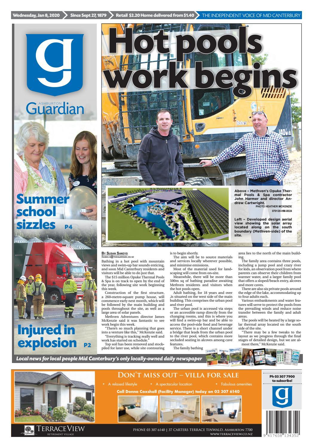 Ashburton Guardian Wednesday January 8 2020 By Ashburton