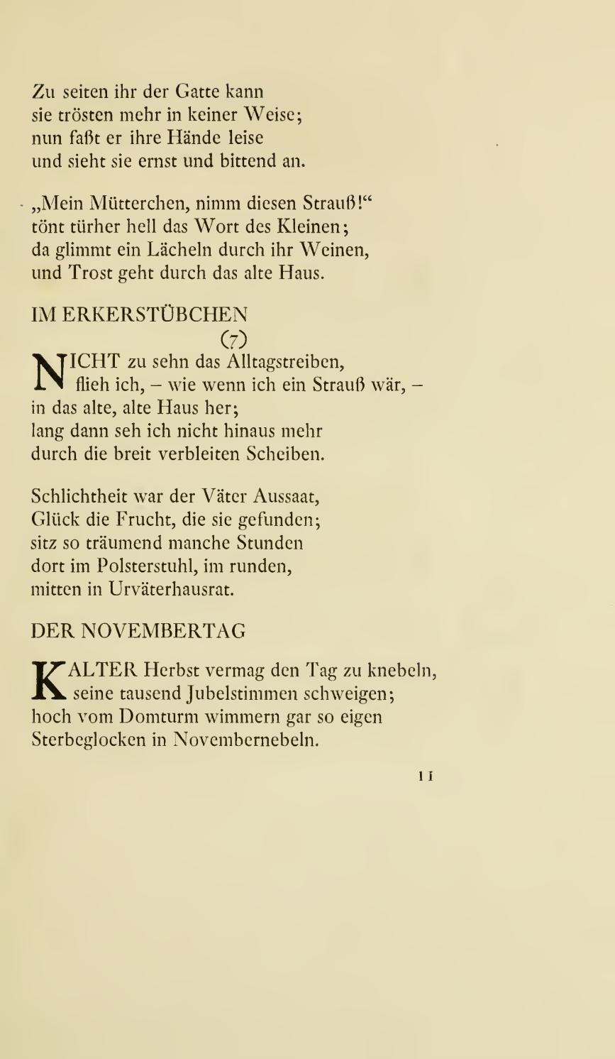 Rilke gedichte glück Guten