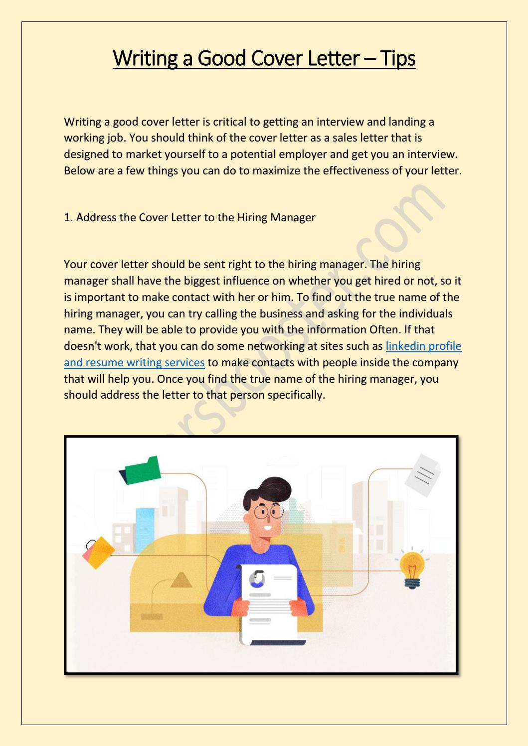 Tips To Writing A Good Cover Letter from image.isu.pub