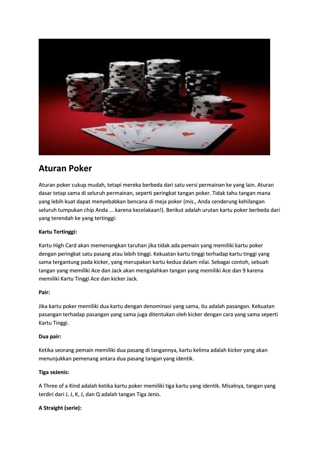 Aturan Dalam Poker By Desy Kusuma Issuu