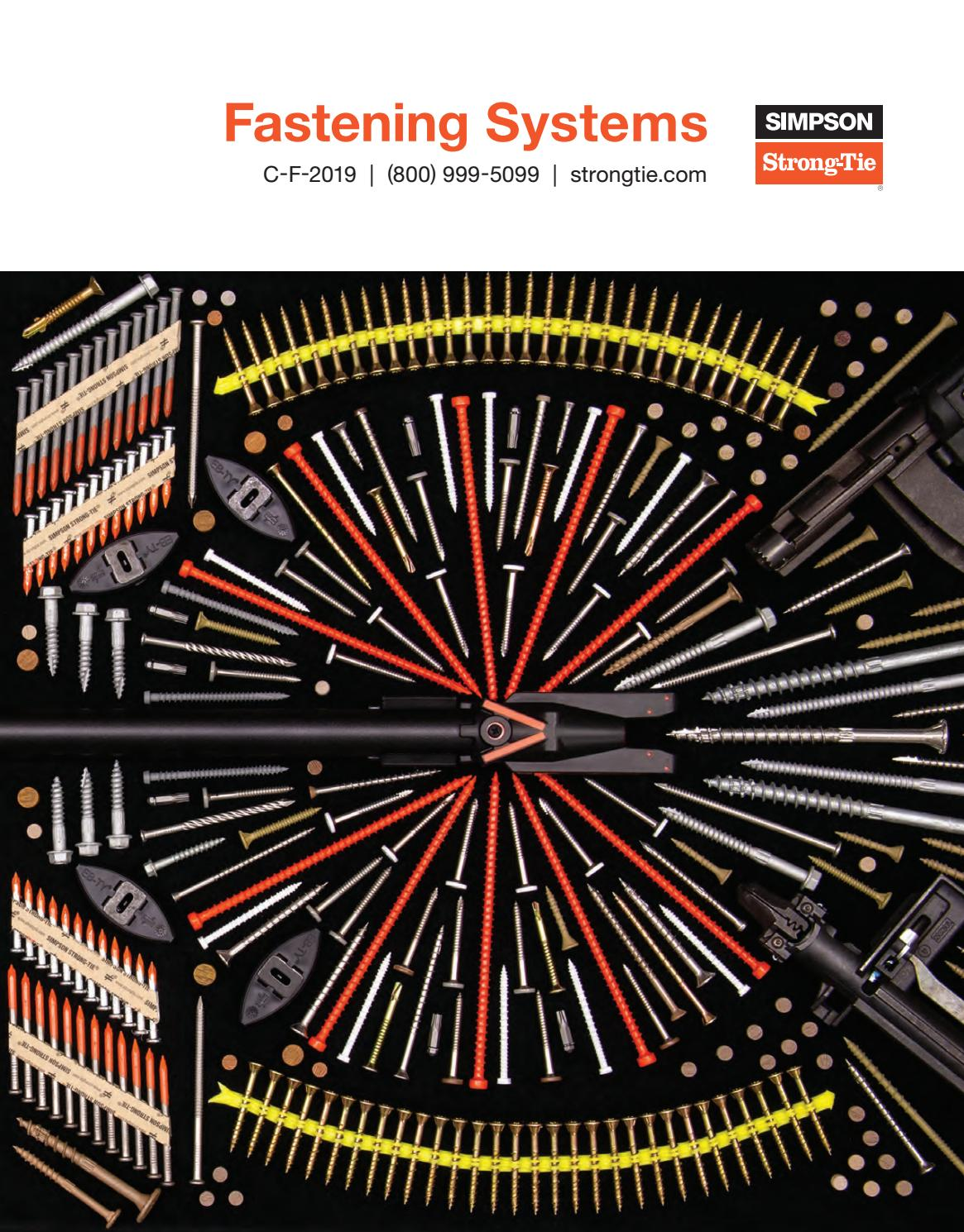 Simpson Strong Tie Fastening Systems 2020 By Meek S Lumber Hardware Issuu