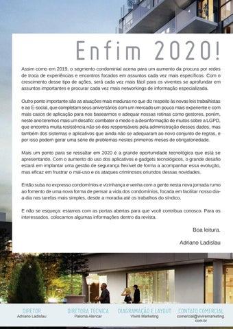 Page 4 of Condomínios e Vizinhança Edição 1 Janeiro/2020