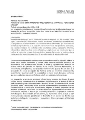 Page 2 of CONTACTO ENTRE OBRAS ARTÍSTICAS O ARQUITECTÓNICAS EXTRANJERAS Y CREACIONES LOCALES
