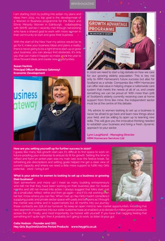 Page 7 of BWS Magazine - New Year Resolutions