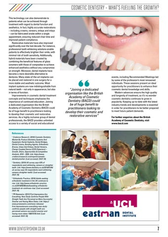 Page 7 of COSMETIC DENTISTRY – WHAT'S FUELLING THE GROWTH?