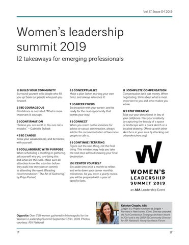 Page 17 of Women's leadership summit 2019 12 takeaways for emerging professionals