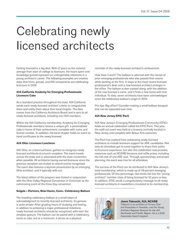 Page 41 of Celebrating newly licensed architects