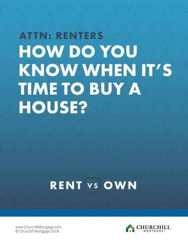 Page 1 of DO YOU KNOW WHEN IT'S TIME TO BUY A HOUSE?