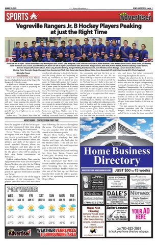 Page 7 of Vegreville Rangers Jr. B Hockey Players Peaking at just the Right Time