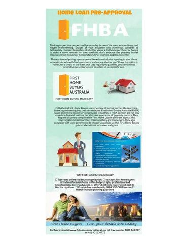 Page 1 of Home Loan pre-approval Australia