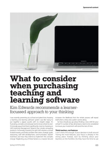 Page 65 of What to consider when purchasing teaching and learning software