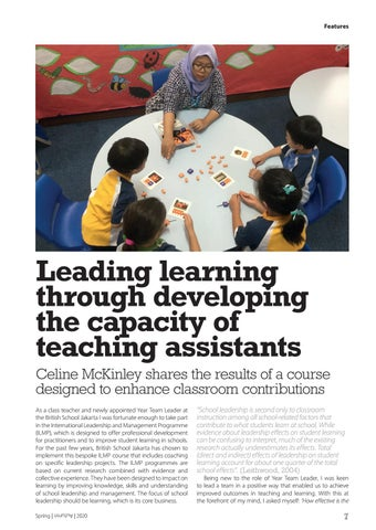 Page 7 of Leading learning through developing the capacity of teaching assistants