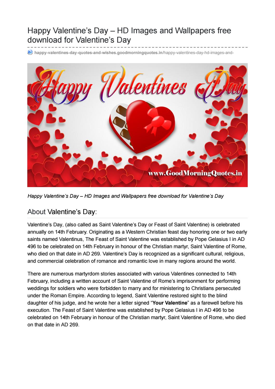 Happy Valentine S Day Hd Images Wallpapers Free Download For
