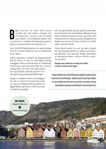 Page 19 of BERGEN — UNESCO CREATIVE CITY OF GASTRONOMY