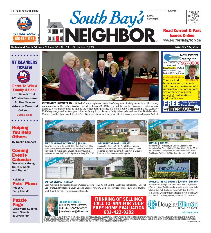 January 15 2020 Lindenhurst South By South Bay S Neighbor